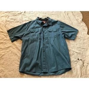 GUC Wrangler Cotton Button up Blue Shirt Size XL